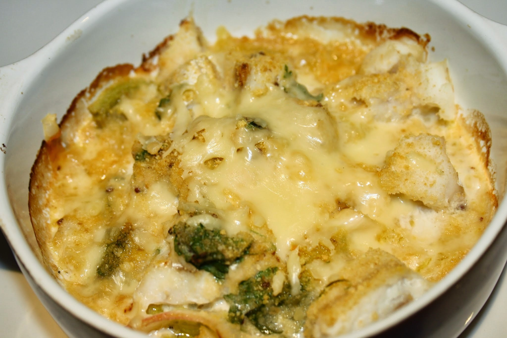 Cheesy Cod Gratin with Crushed Potatoes
