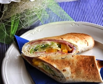 Tortilla-wrap voor de lunch.