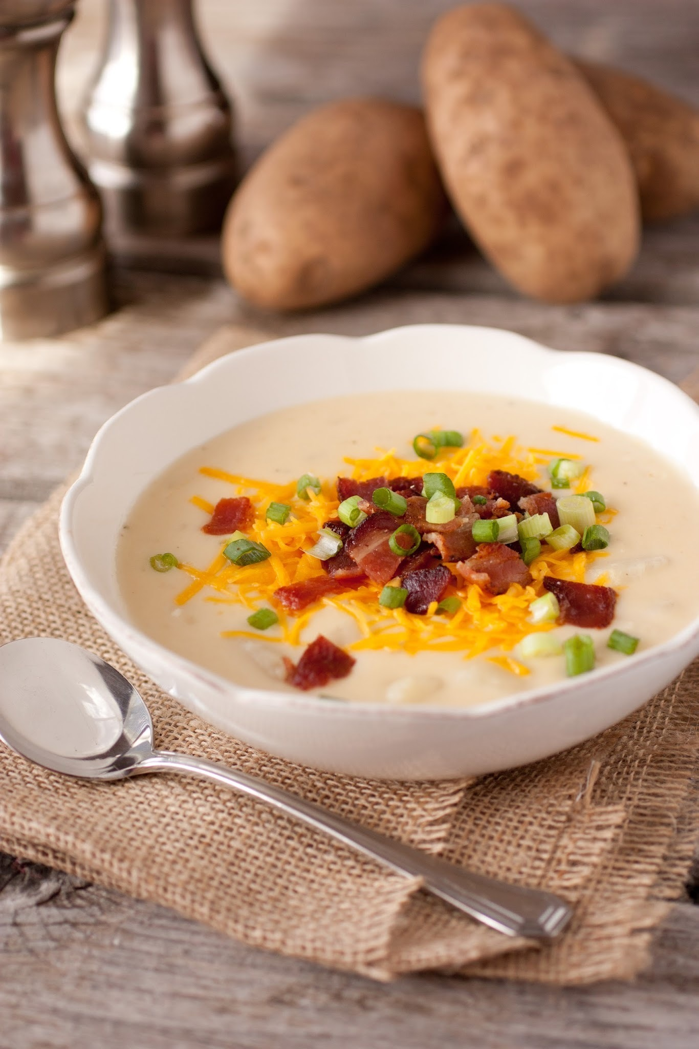 Cheesy Bacon Ranch Potato Soup