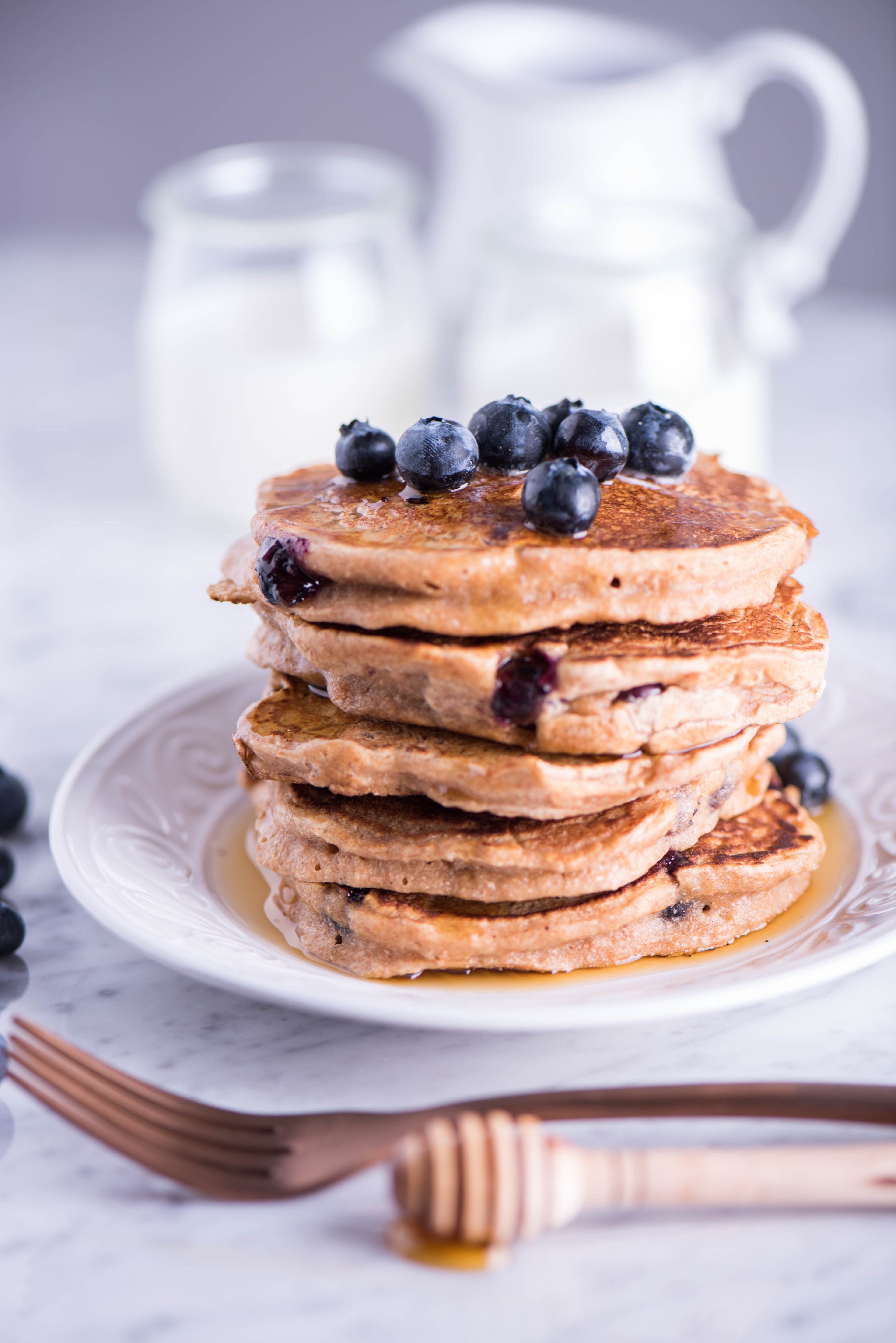 Hot Cakes con Blueberries