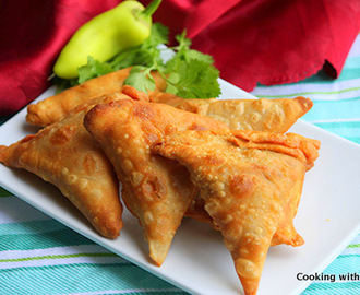 Onion Samosa or Irani Samosa Recipe