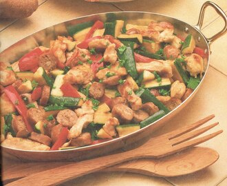 Basque Sauté of Chicken Breasts