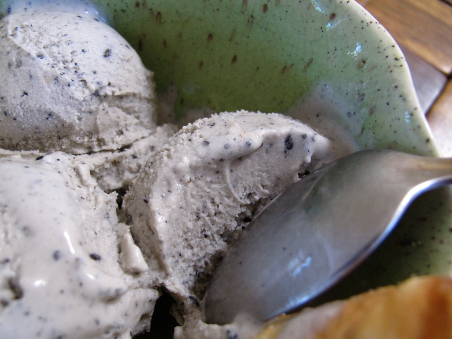 Black Sesame Coconut Milk Ice Cream