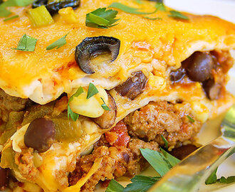 Simple Mexican Lasagna