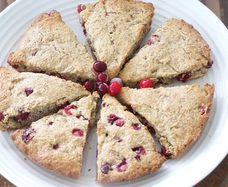Skinny Gluten Free Sugarfree Cranberry Almond Scones!