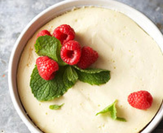 Crustless Lemony Cheesecake
