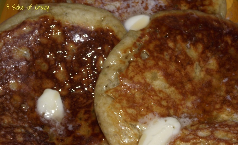Banana Bread Pancakes and Cream Cheese Syrup