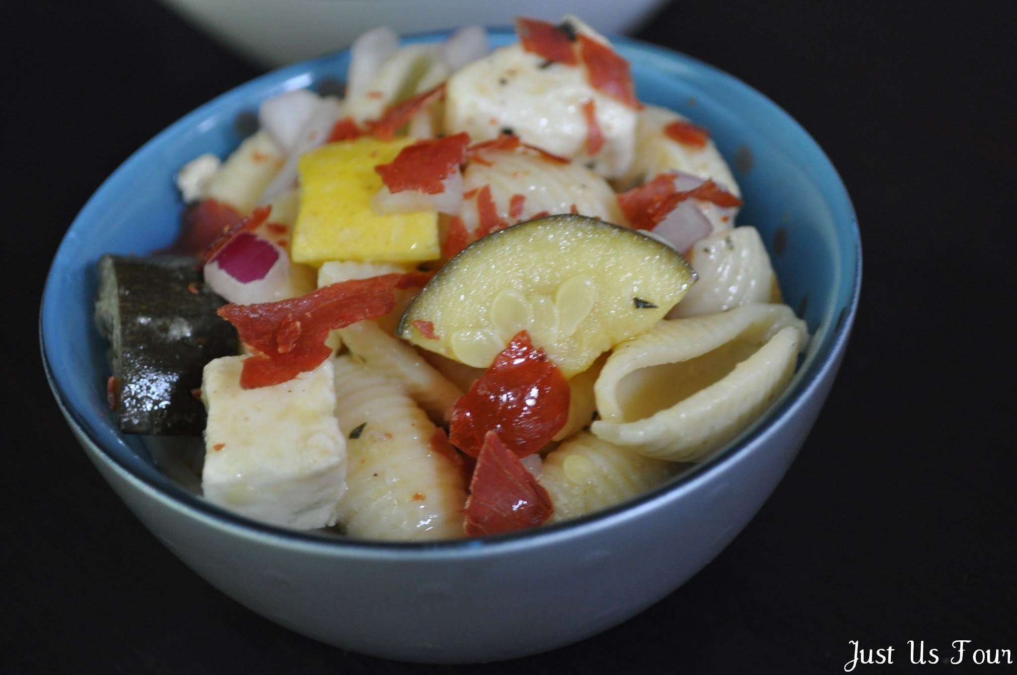Pasta Salad with Proscuitto and Summer Squash