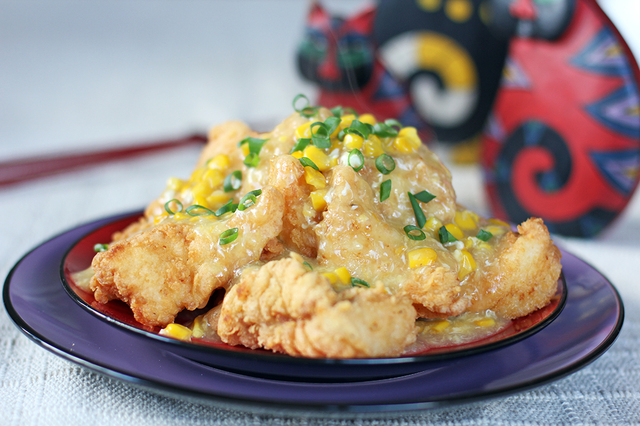 Hong Kong Style Fish Fillets in Corn Sauce
