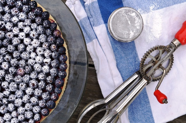 new york style blueberry cheesecake