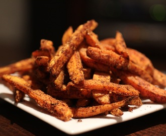 Spicy Sweet Potatoes Fries (you won't believe its baked)