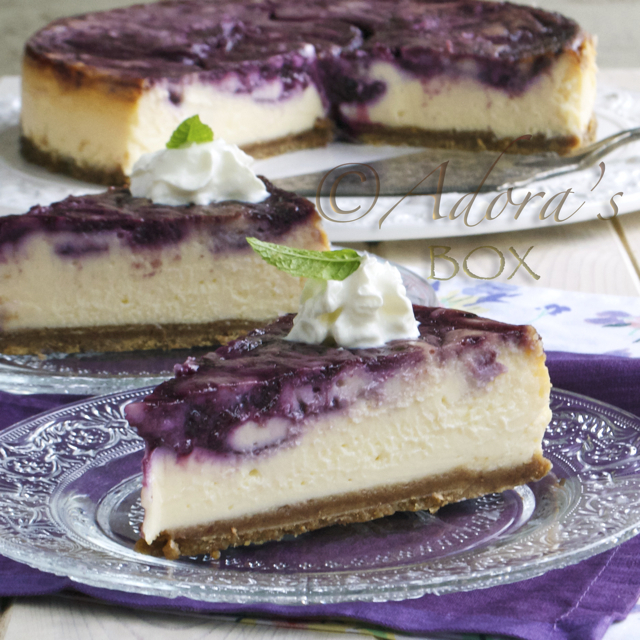 LEMON CURD  AND BLUEBERRY CHEESE CAKE