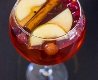 Cranberry Apple Sangria and Virgin Sangria