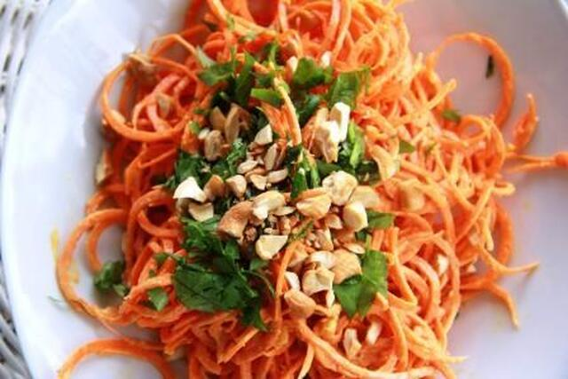 Carrot, Peanut, Ginger & Lime Salad