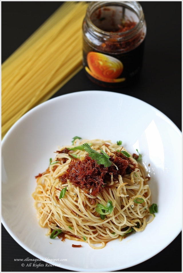 Angel Hair Pasta And Fried Rice Using Lee Kum Kee XO Sauce Plus Giveaways