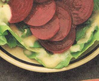 Beet and Lettuce Salad with Mustard Vinaigrette