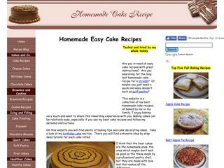 Homemade Easy Cake Recipes For All Occasions