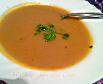 KREM CORBA SA BUNDEVOM I BATATOM & CREAM SOUP WITH PUMPKINS AND SWEETPOTATO