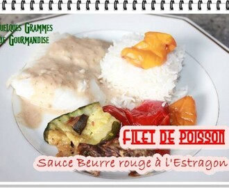 Filet de Poisson Sauce au Beurre Rouge à l'Estragon