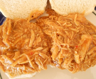 Zesty Slow Cooker Chicken Barbecue Sandwiches