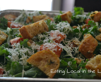 The Power of Prayer and Powerhouse Foods: Lemony Kale Salad with Homemade Herb Croutons