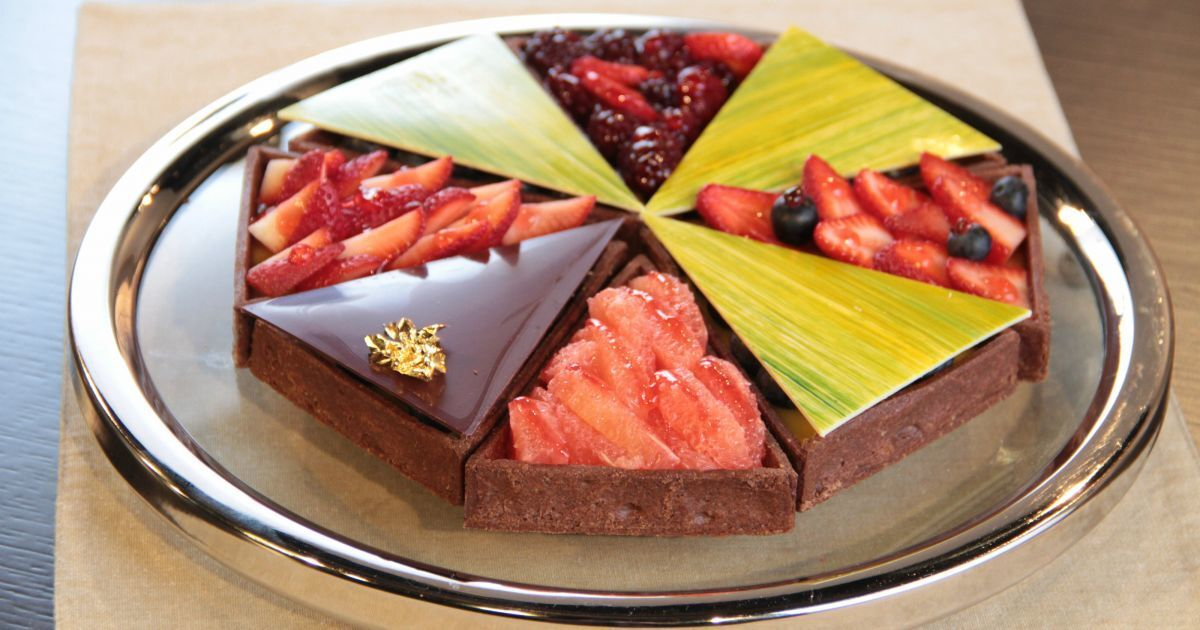 Tarta de chocolate y frutos rojos (Osvaldo Gross)