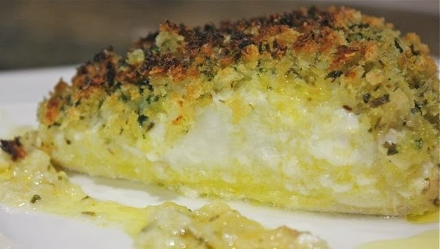 BAKED COD WITH A HERB CRUST