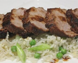 Chinese pork with rice