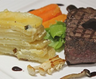 DAUPHINOISE POTATOES with steak