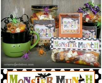 Monster Munch Mix and Printable Tags