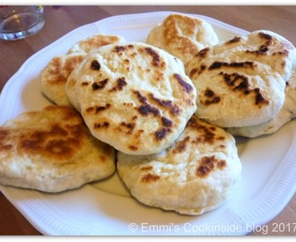 Italian little flatbreads (Focaccine) in the pan