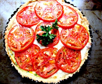 Fresh Tomato Tart with Gorgonzola Cheese
