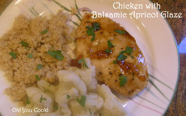 Baked Chicken Breasts with Balsamic Apricot Glaze - Easy