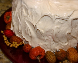Carrot Cake with Praline Filling & Cream Cheese Frosting!
