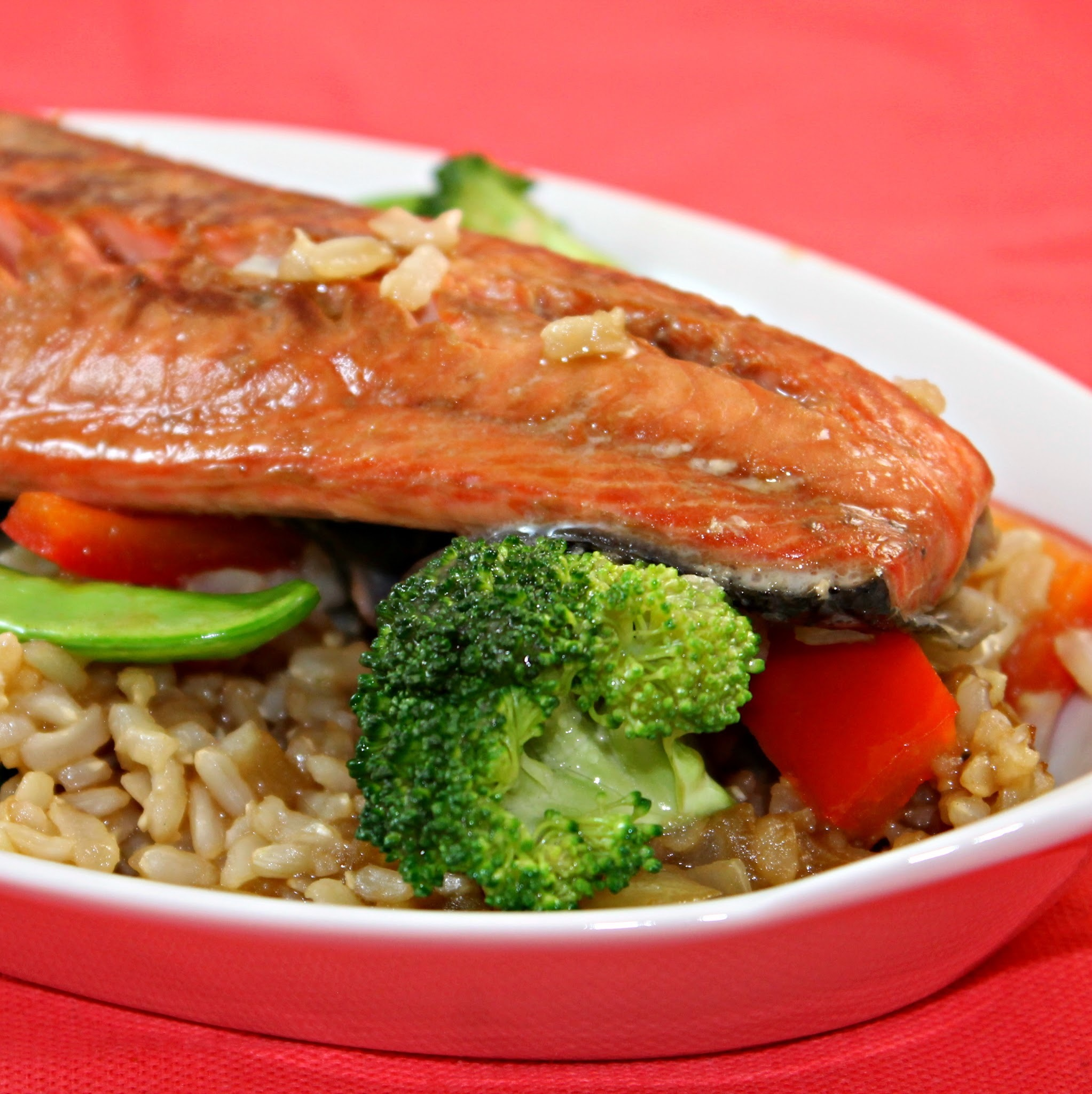 Salmon Teriyaki Stir Fry