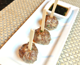 Asian Meatballs and Lime Sesame Dipping Sauce