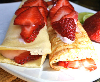 Gluten Free Strawberry Crepes