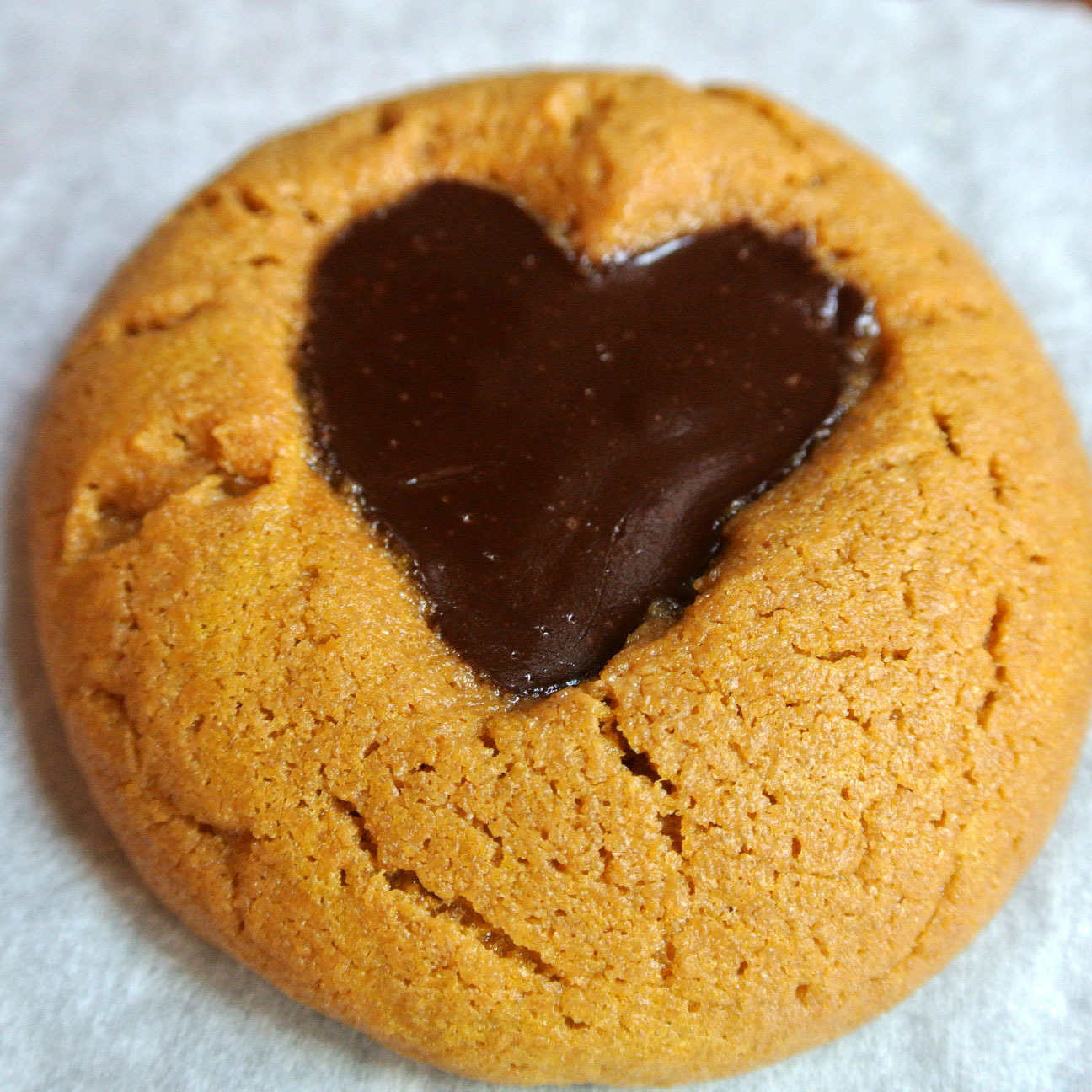 Gluten Free Chocolate Sunbutter Heart Cookies