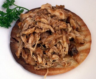 EASY Smokey Pulled Chicken Sandwich