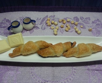 Croissants chocolate blanco y nutella.