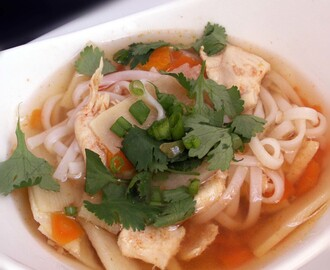 Spicy Asian Chicken Noodle Soup Gluten Free