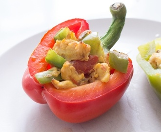 How to Make Healthy Breakfast Stuffed Bell Peppers