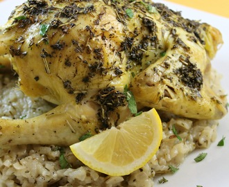 Scarborough Fair Cornish Game Hen with Risotto