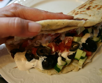 Easy Flat Bread for Fold Over Sandwiches