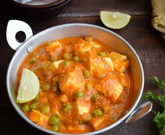 Matar paneer (No onion/garlic)