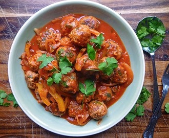* Pork Meatballs with Chipotle Tomato Sauce