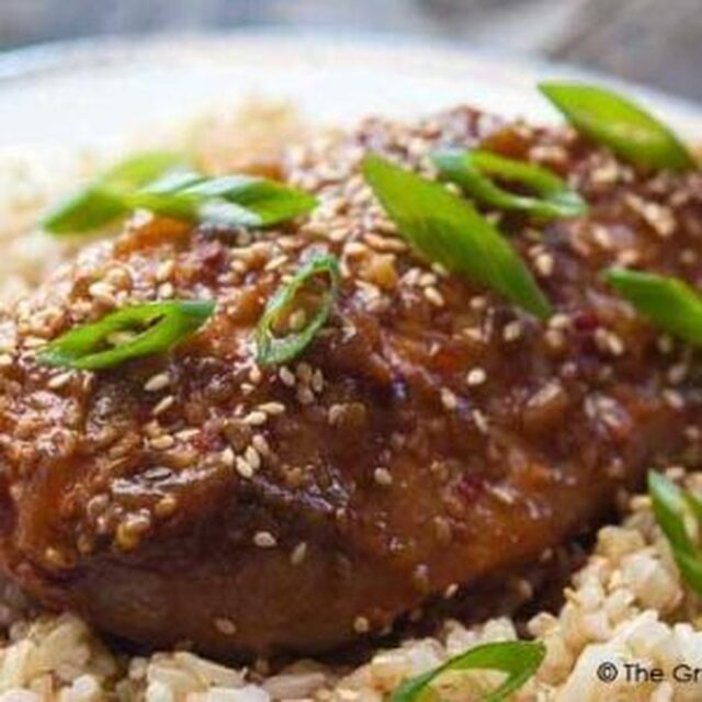 Clean Eating Slow Cooker Honey Sesame Chicken