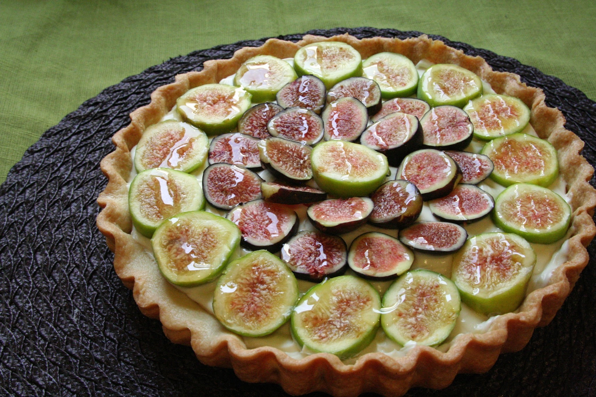 Honey Glazed Fig & Mascarpone Tart