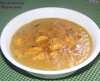 Andhra style Paneer Gravy (Cottage cheese cubes in spicy gravy)