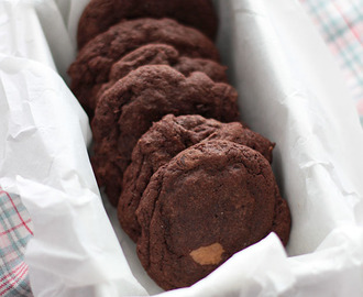 Galletas de Chocolate con Mantequilla de Cacahuete y Nutella